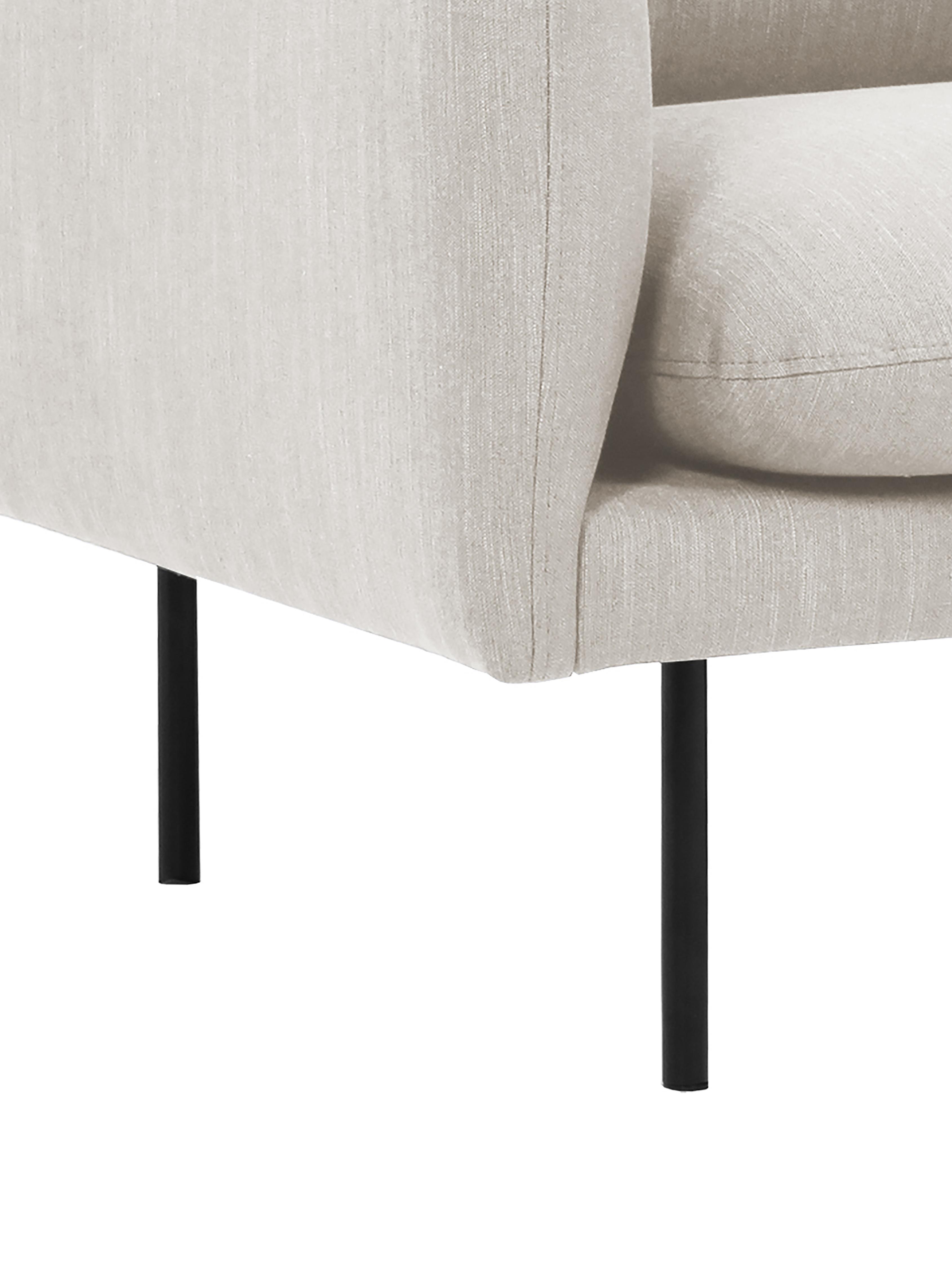 Sessel Moby, Bezug: Polyester Der hochwertige, Gestell: Massives Kiefernholz, Webstoff Beige, B 90 x T 90 cm