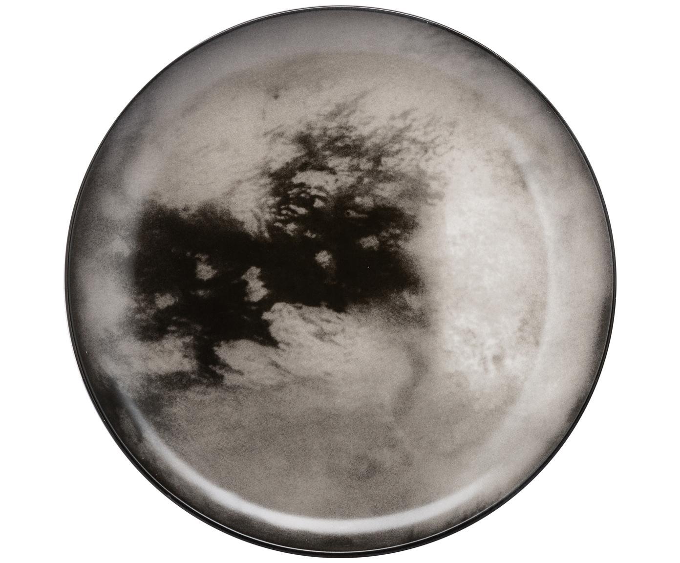 Piatto piano Cosmic Diner Titan, Porcellana, Grigio, Ø 26 cm