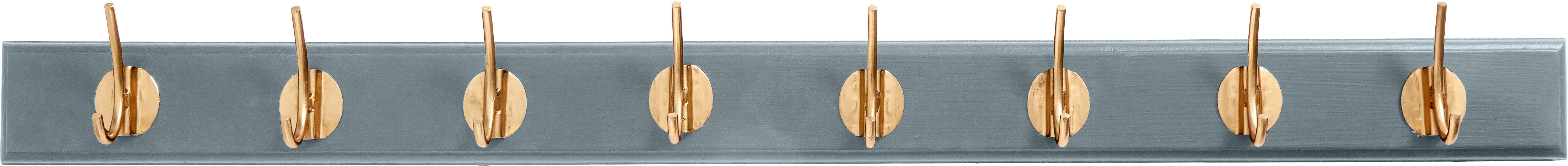 Ganci appendiabiti in metallo Aoife, Asta: pannello di fibra a media, Grigio, Larg. 90 x Alt.7 cm