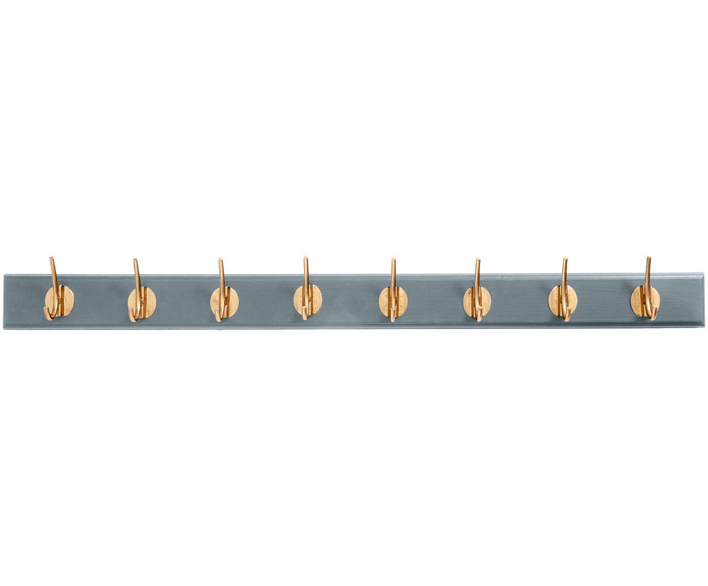 Appendiabiti con ganci in metallo Aoife, Asta: pannello di fibra a media, Grigio, Larg. 90 x Alt.7 cm