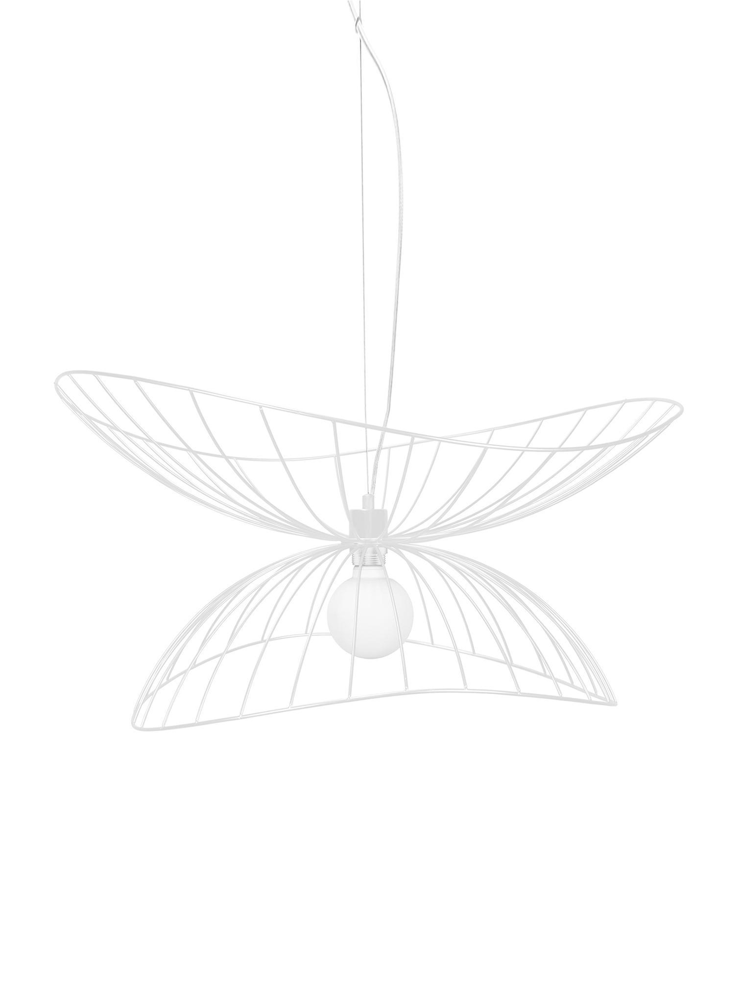 Lampa wisząca Ray, Metal powlekany, Biały, Ø 70 x W 36 cm
