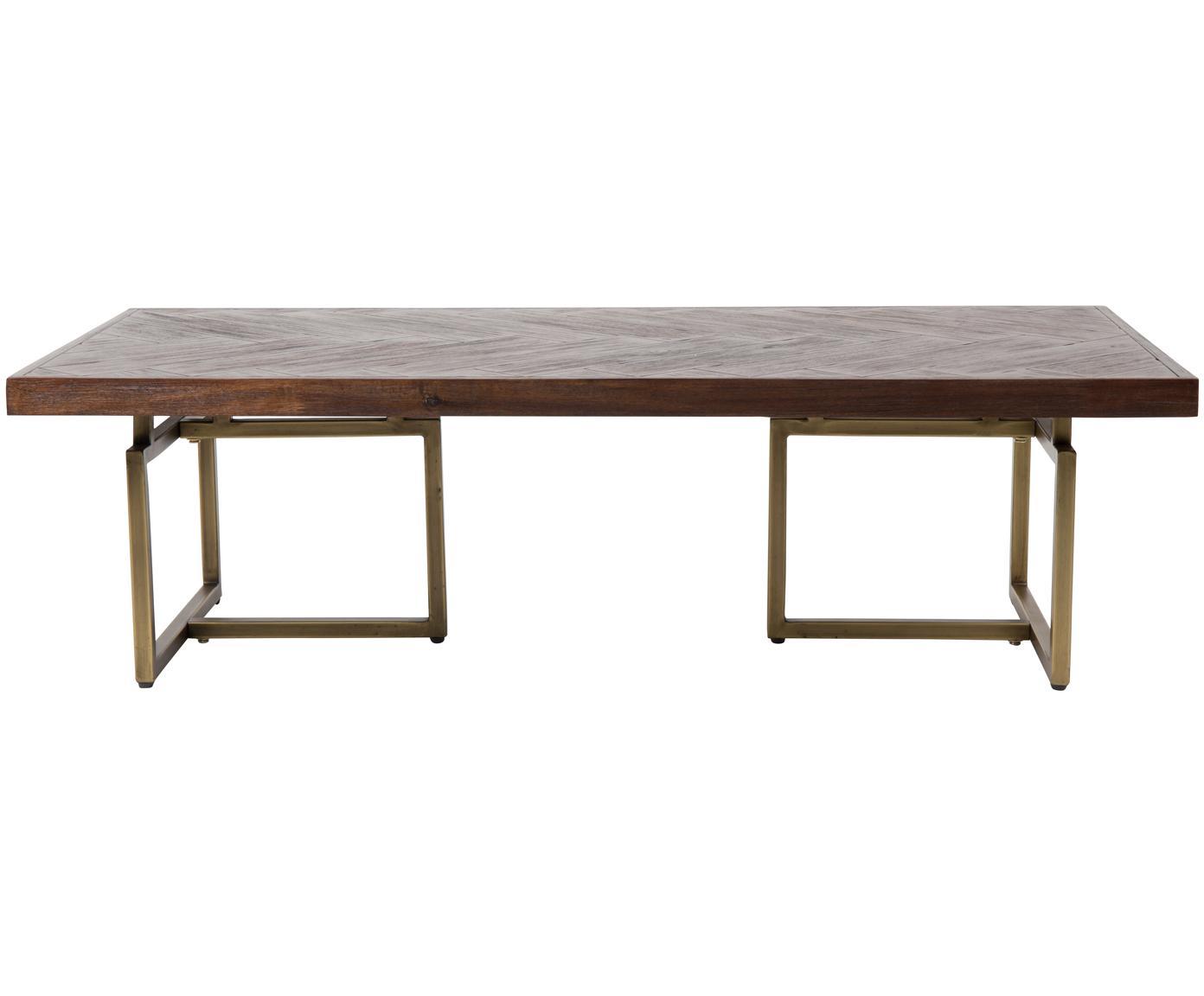 Tavolino da salotto in legno Class, Piano d'appoggio: pannello di fibra a media, Gambe: acciaio, rivestito, Marrone, Larg. 120 x Alt. 35 cm