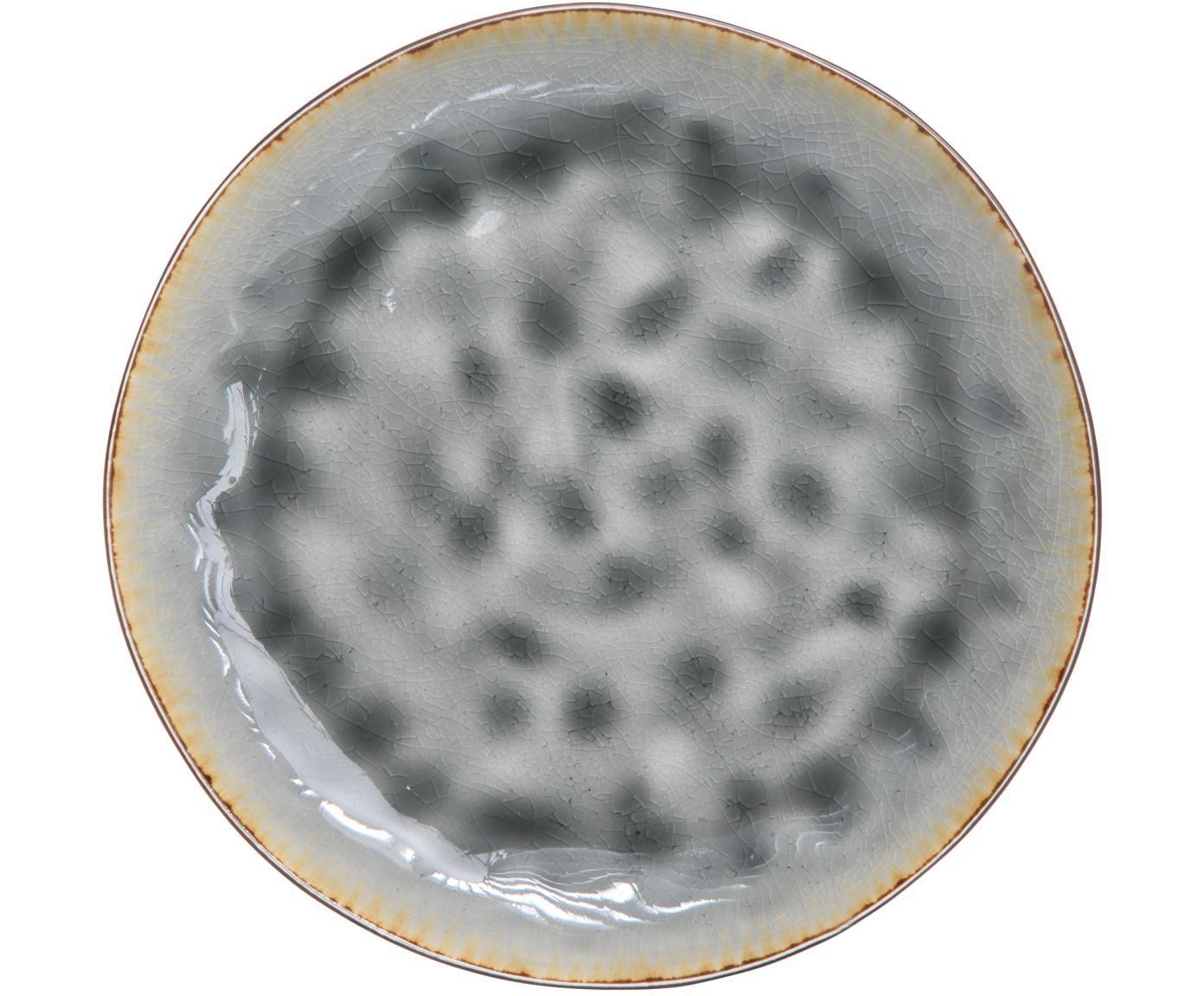 Frühstücksteller Lagune, 6 Stück, Keramik, Graubraun, Grautöne, Ø 20 cm
