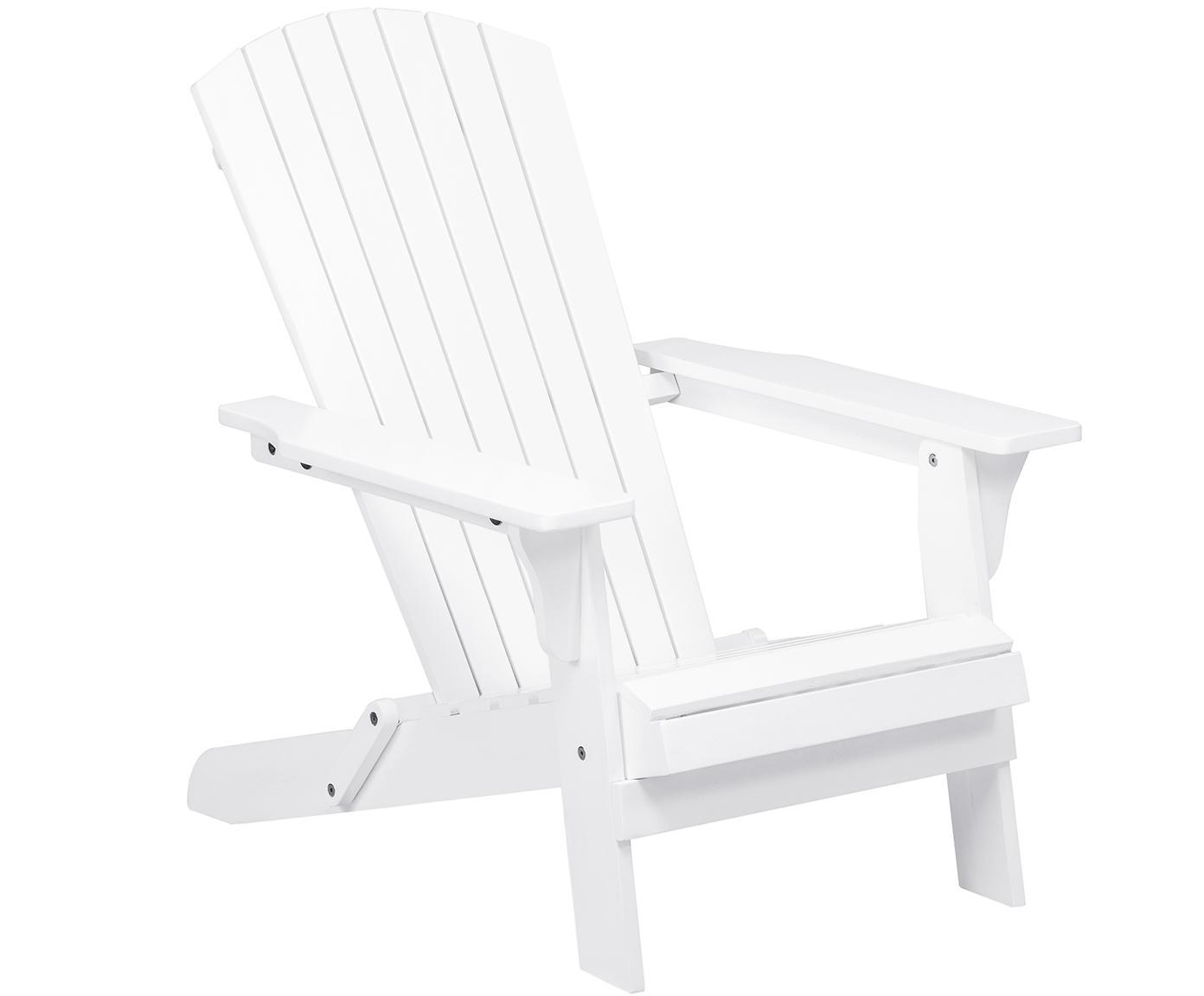 Garten-Loungestuhl Charlie aus Akazienholz in Weiß, Akazienholz, lackiert, Weiß, B 93 x T 74 cm