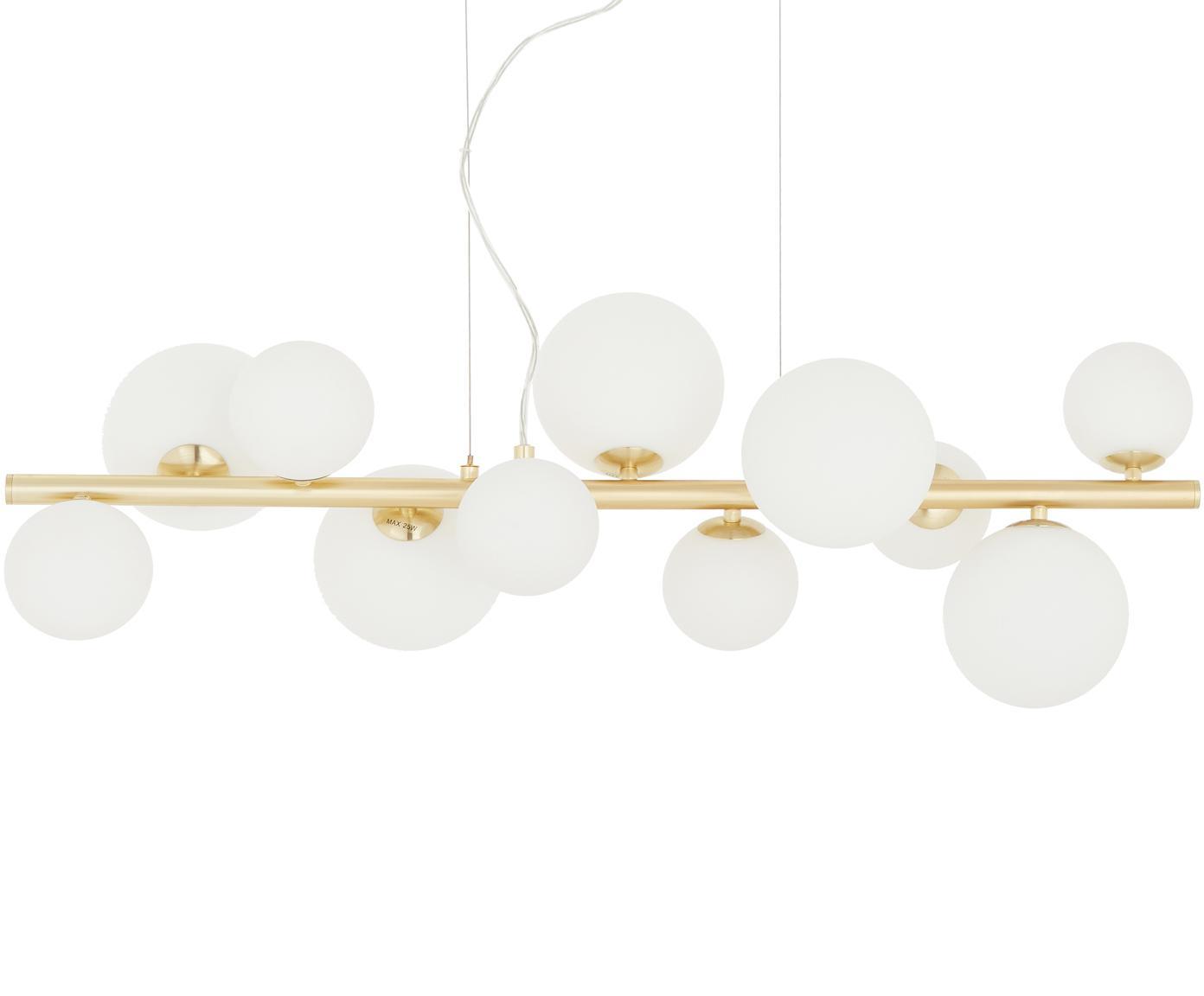 Lampa wisząca Molekyl, Biały, mosiądz, S 85 x W 26 cm