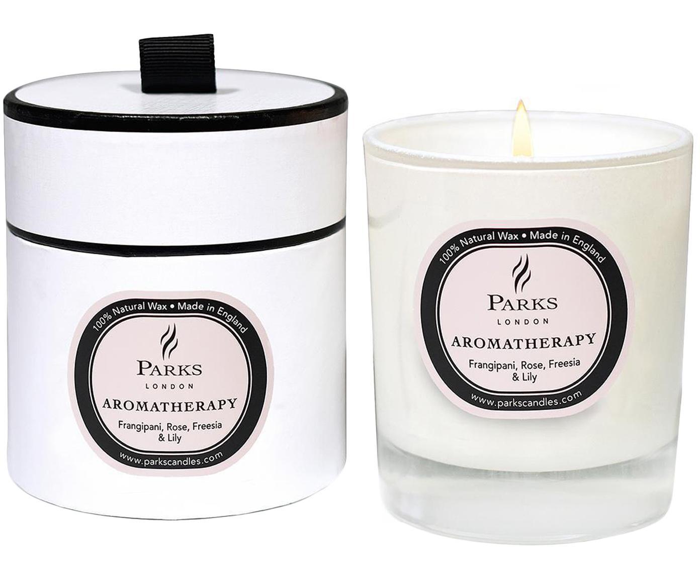 Vela perfumada Aromatherapy (rosa, fresia y azucena), Recipiente: cristal, Transparente, blanco, rosa, Ø 8 x Al 9 cm