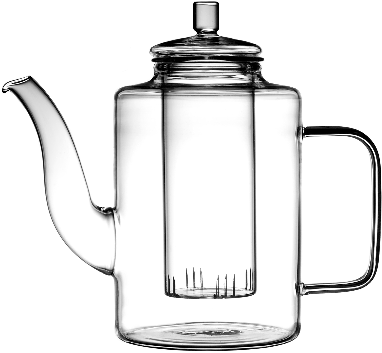 Teiera in vetro Drana, Vetro, Trasparente, 900 ml