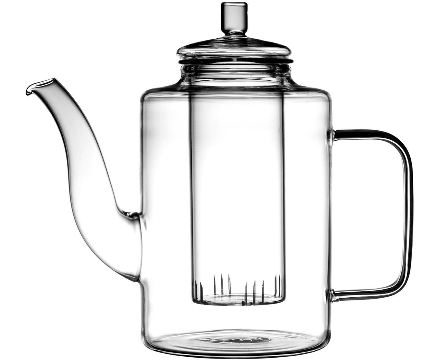 Theekan Drana, Glas, Transparant, Ø 9 x H 18 cm