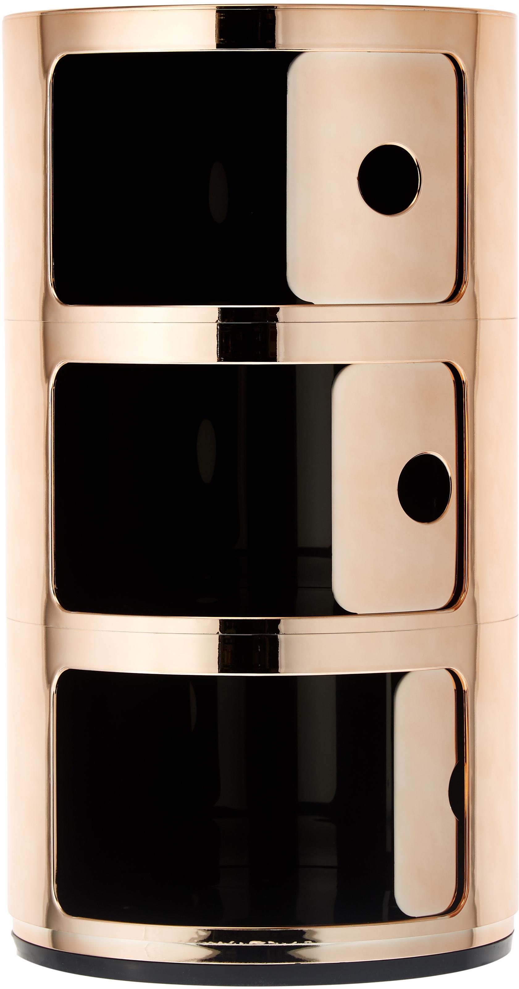 Design Container Componibile, Kunststoff, metallicbeschichtet, Kupferfarben, Ø 32 x H 59 cm