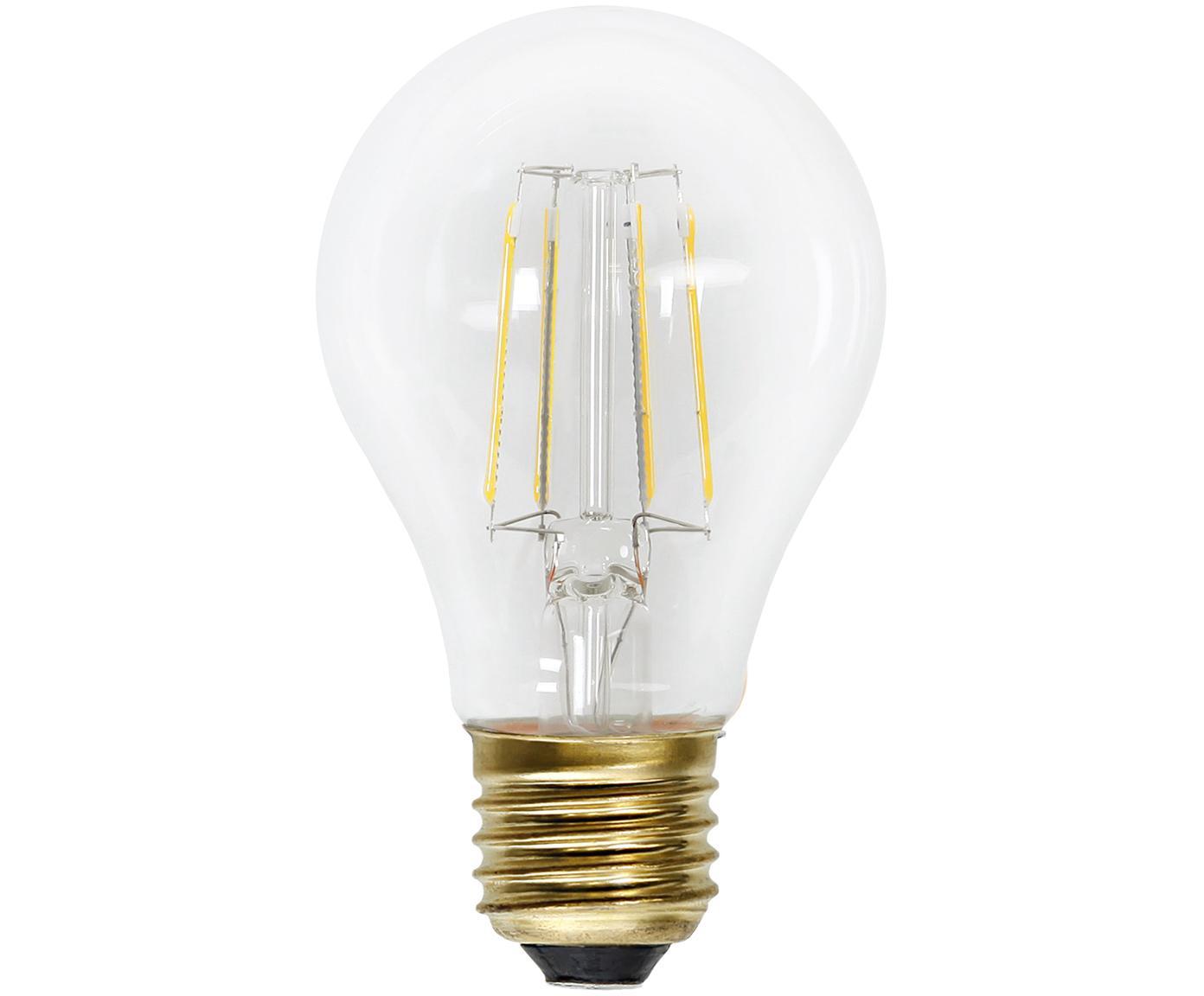 Bombilla LED Airtight Four (E27/2,3W), Ampolla: vidrio, Casquillo: Latón, Transparente, latón, Ø 6 x Al 11 cm