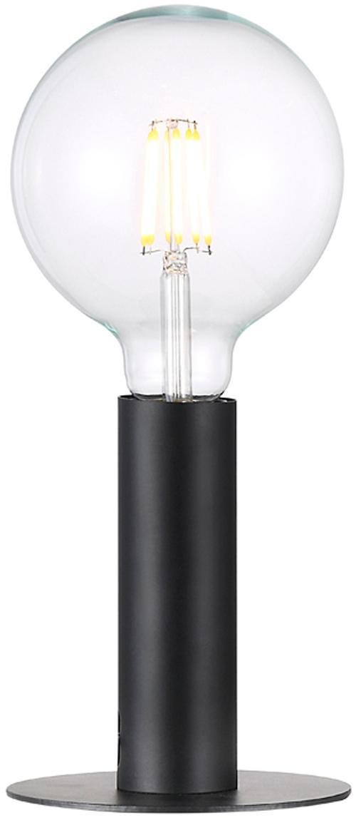 Tafellamp Dean in zwart, Gelakt messing, Zwart, Ø 13 x H 15 cm
