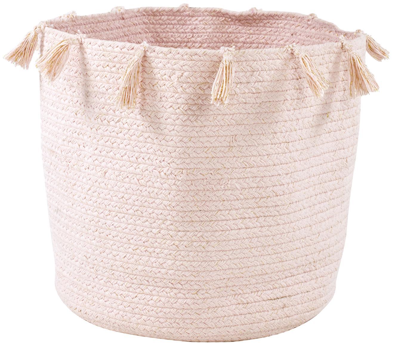 Aufbewahrungskorb Heloise, Baumwolle, Rosa, Ø 30 x H 35 cm