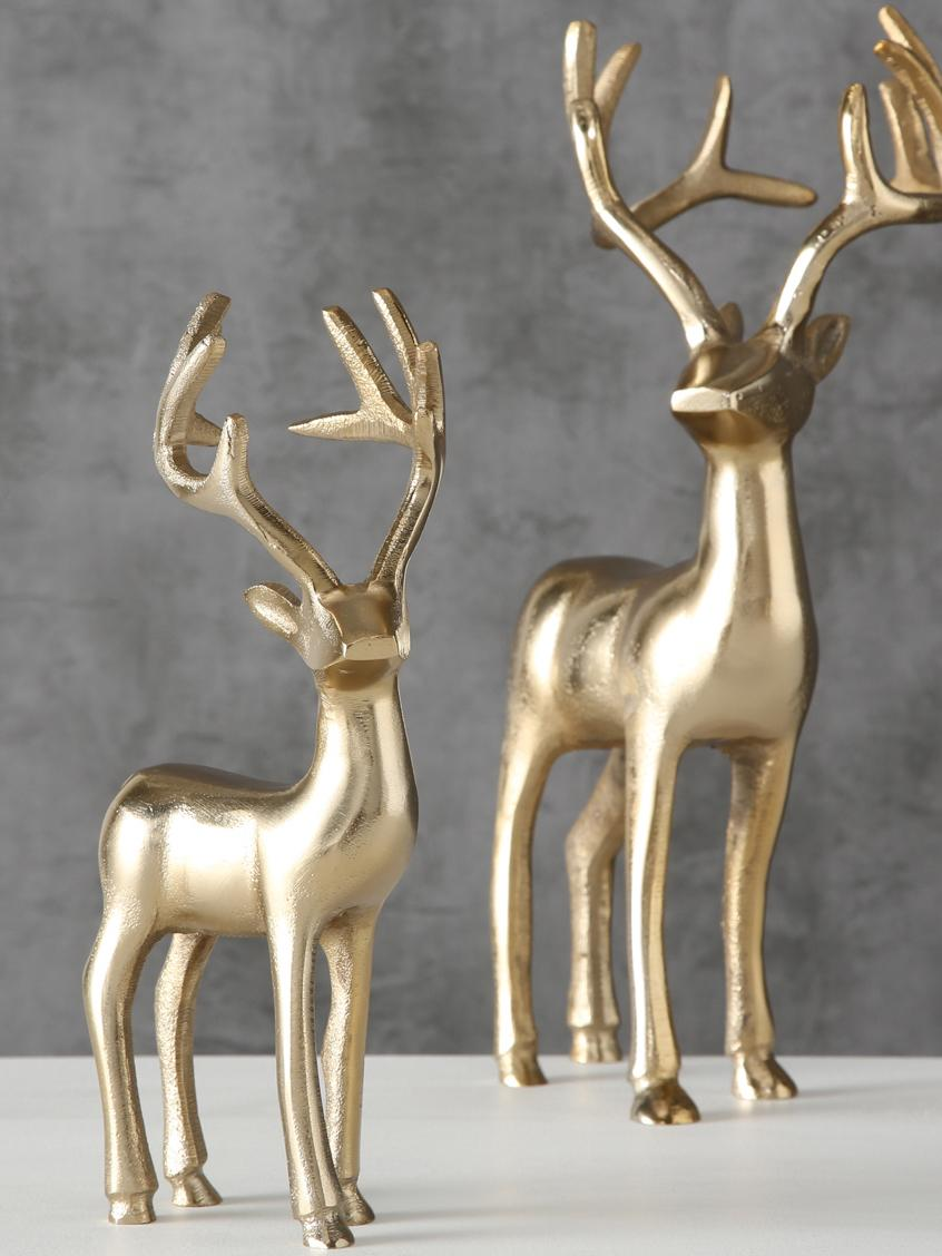 Set 2 oggetti decorativi Thielo, Alluminio rivestito, Ottonato, Set in varie misure