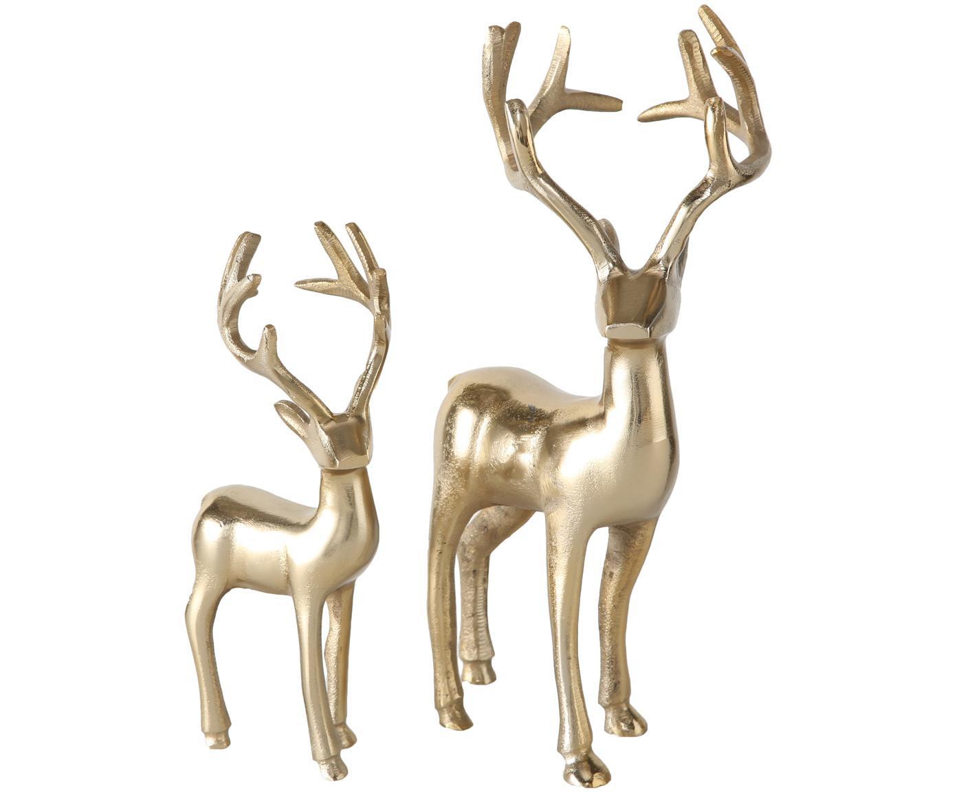 Set oggetti decorativi Thielo, 2 pz., Alluminio rivestito, Ottonato, Diverse dimensioni