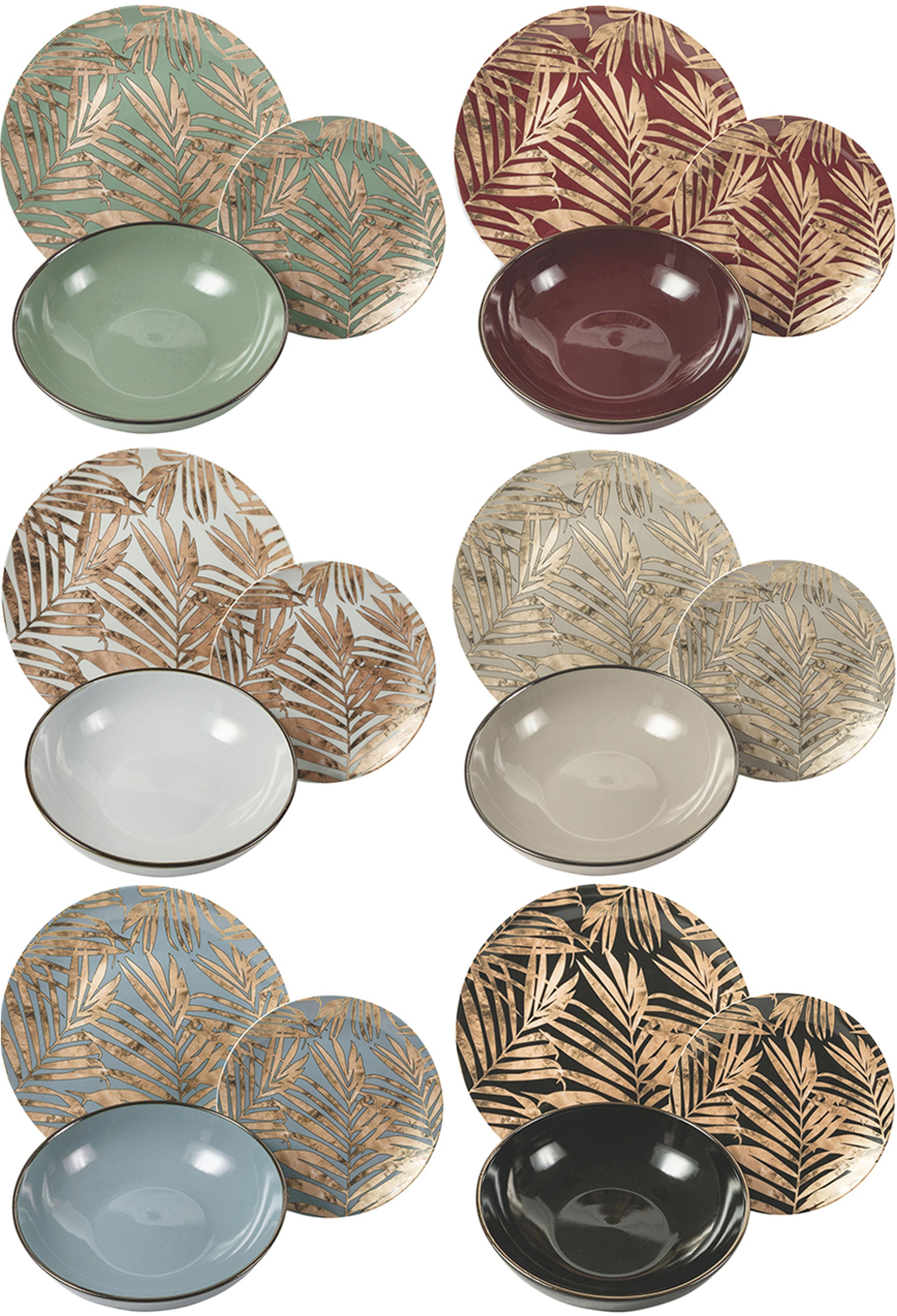Vajilla Forest Chic, 6comensales (18pzas.), Multicolor, Set de diferentes tamaños