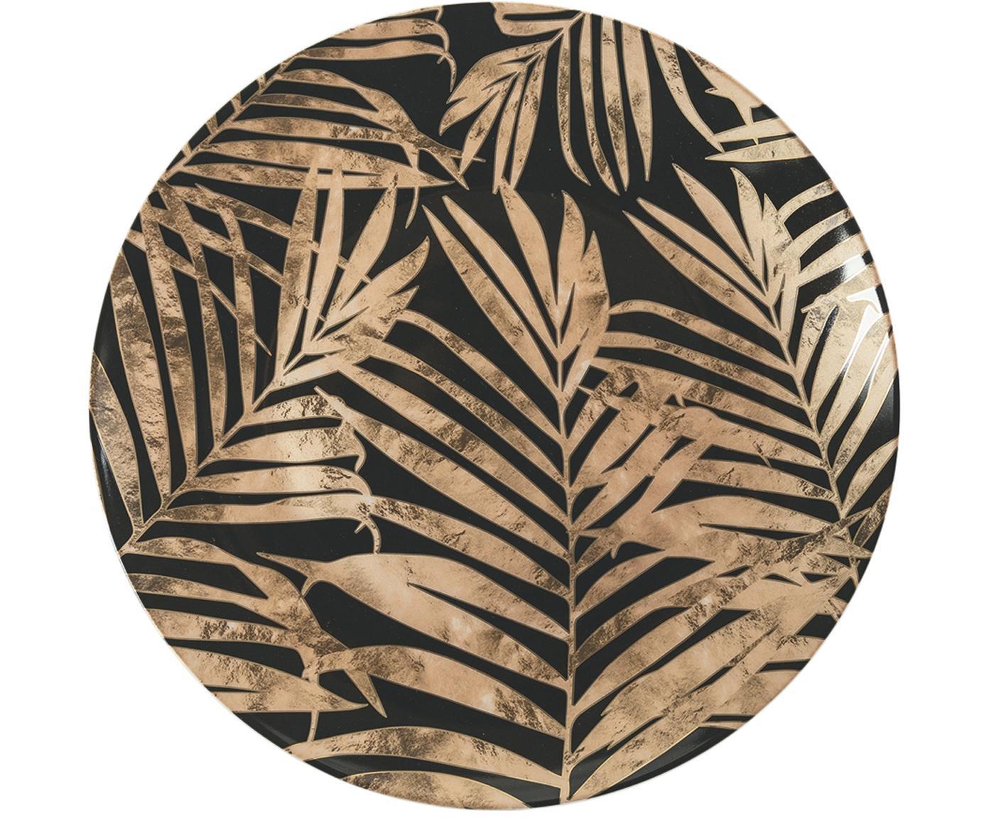 Set 18 piatti con motivo foglie tropicali Forest Chic, Multicolore, Set in varie misure