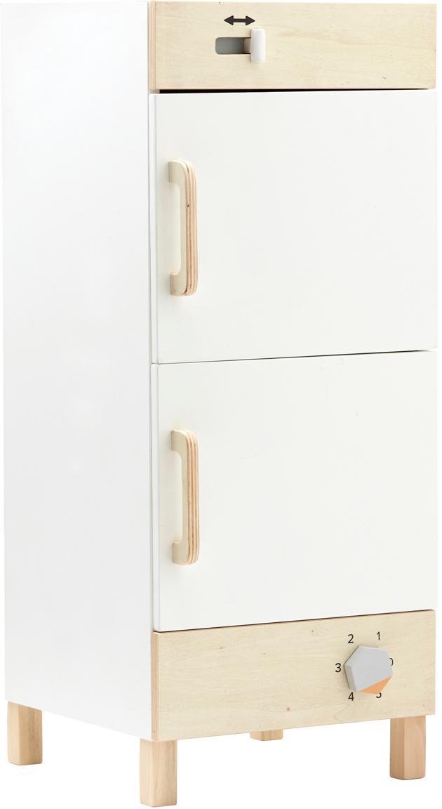 Spielzeug-Kühlschrank, Holz, Weiß, Holz, 30 x 73 cm