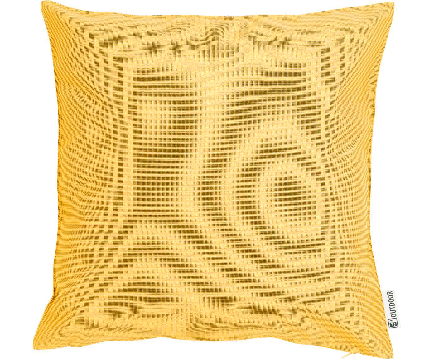 Zewnętrzna poduszka z wypełnieniem St. Maxime, Żółty, czarny, S 47 x D 47 cm
