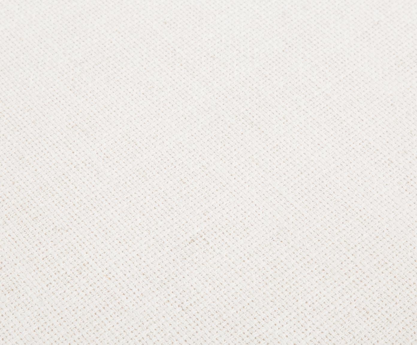 Ławka Beverly, Tapicerka: poliester Tkanina o odpor, Stelaż: drewno eukaliptusowe, Nogi: metal malowany proszkowo, Odcienie kremowego, S 110 x W 46 cm