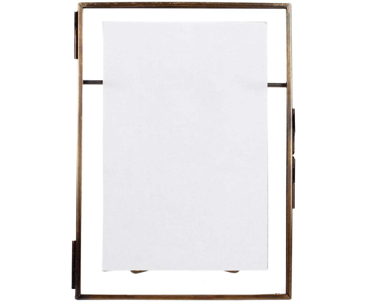 Bilderrahmen Collector, Rahmen: Messing, beschichtet, Front: Glas, Bronzefarben, 10 x 15 cm