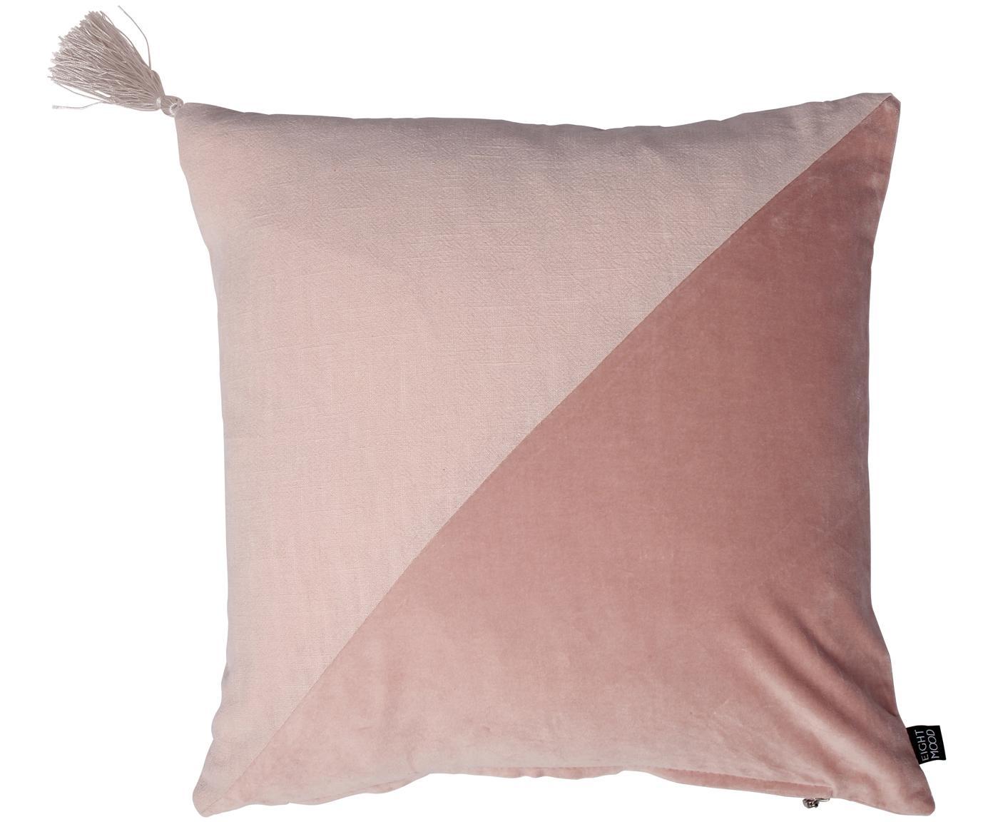 Fluwelen kussen Shadow, Roze, 45 x 45 cm