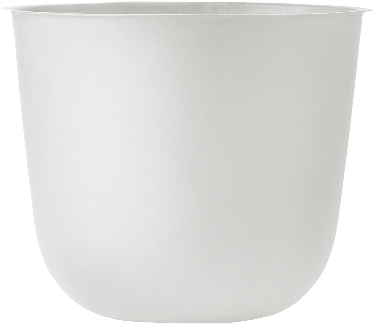 Portavaso Wire Pot, Acciaio verniciato a polvere, Bianco, Ø 23 x Alt. 17 cm