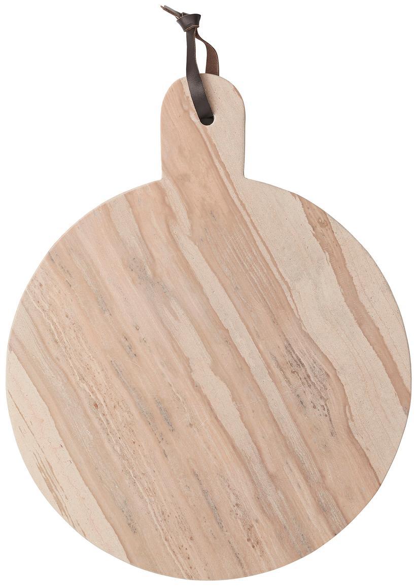 Ręcznie wykonana deska do krojenia z marmuru Etille, Marmur, Jasny różowy, marmurowy, S 38 x G 31 cm