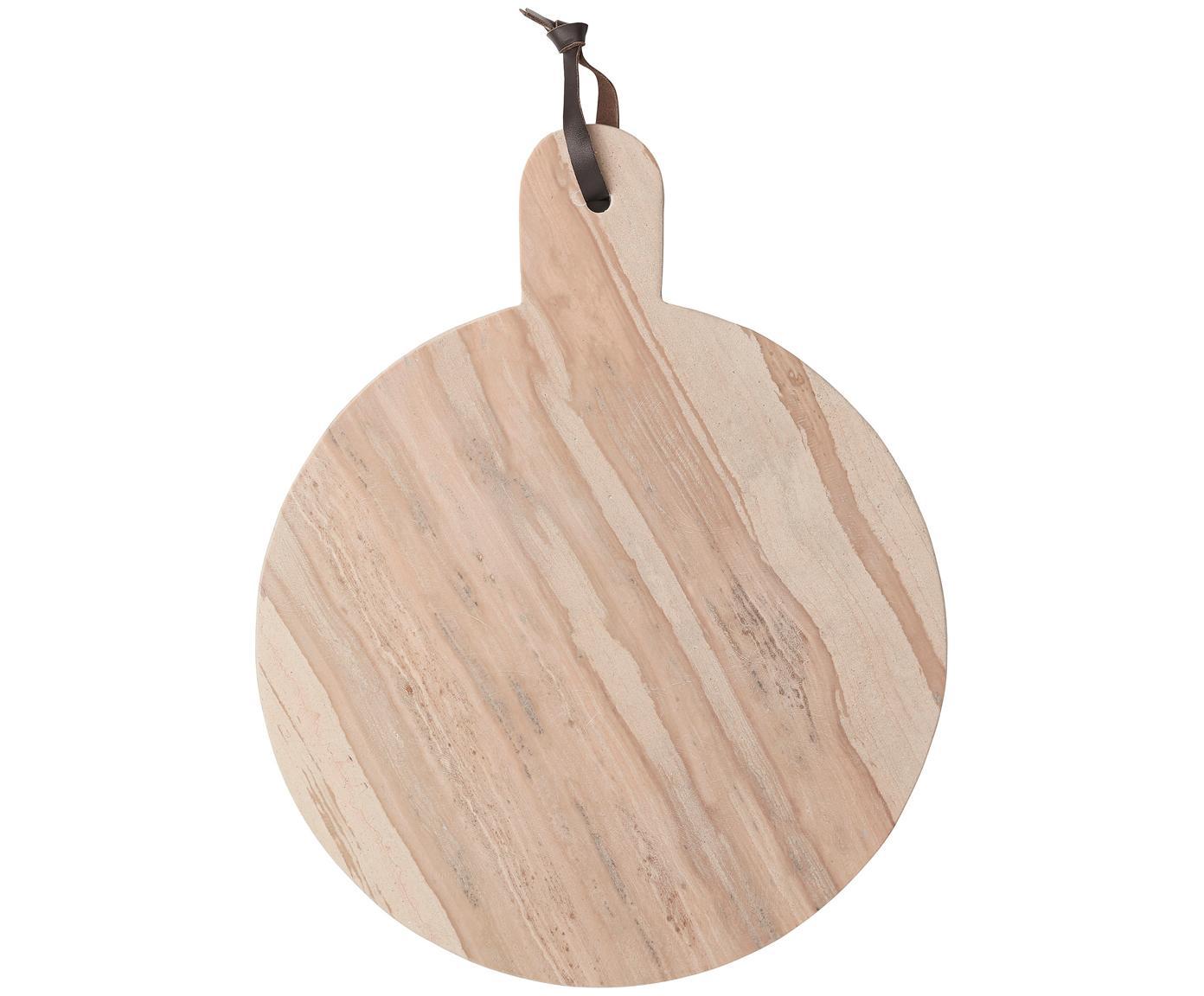 Handgemaakte marmeren snijplank Etille, Marmer, Lichtroze, gemarmerd, B 38 x D 31 cm