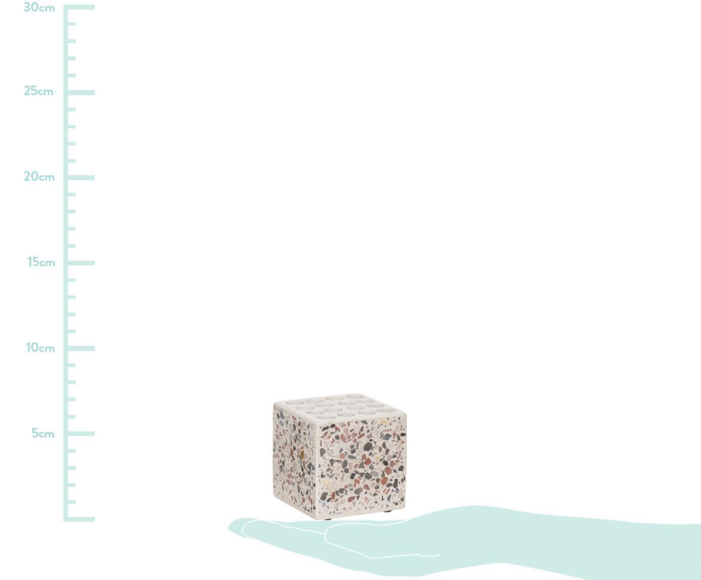 Portalápices Renomel, Terrazo, Blanco, rojo, negro, An 6 x Al 6 cm