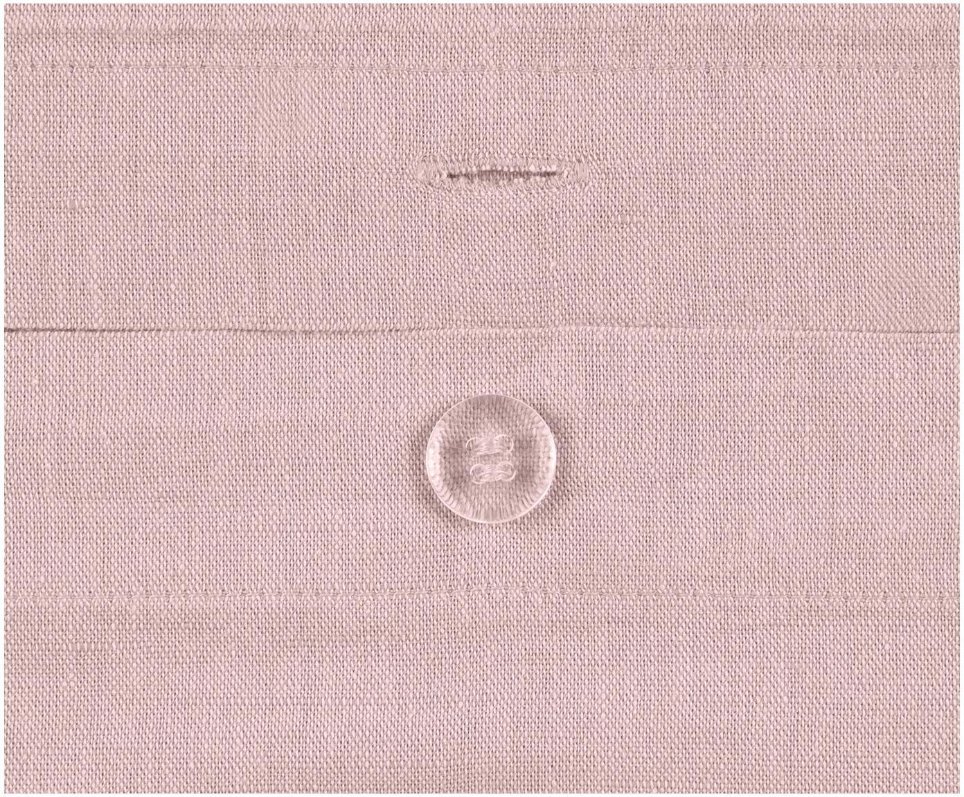 Pościel z lnu z efektem sprania Nature, Blady różowy, 135 x 200 cm