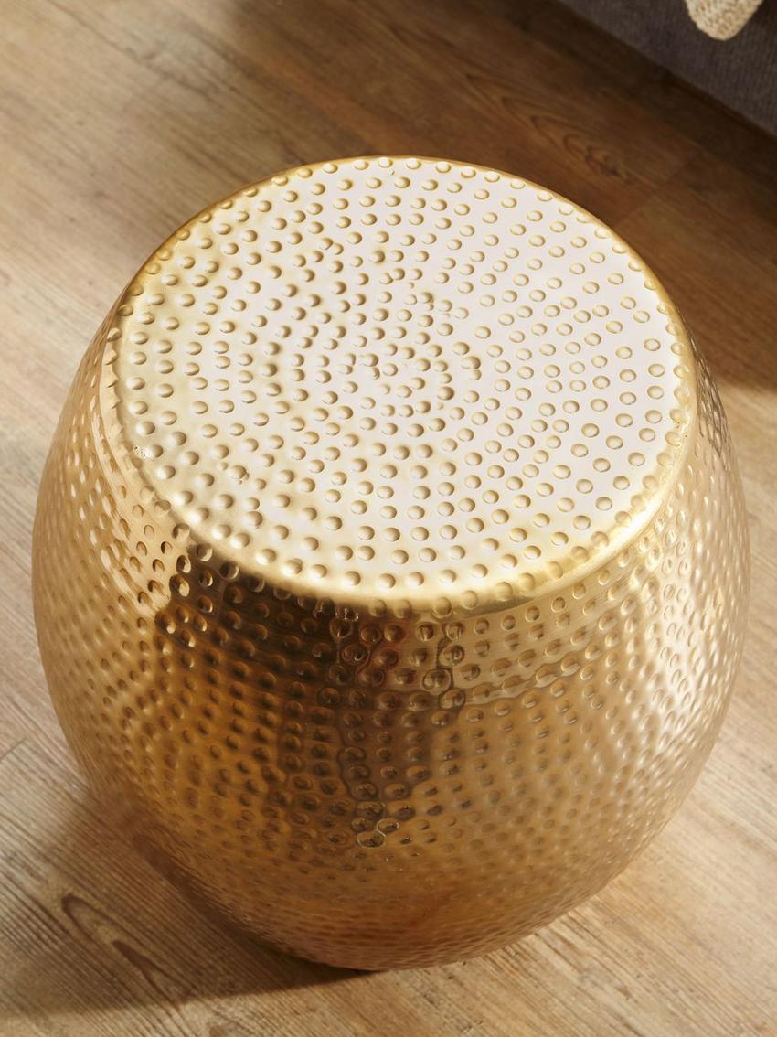 Petite table d'appointstyle oriental Wohnling, Couleur laitonnée
