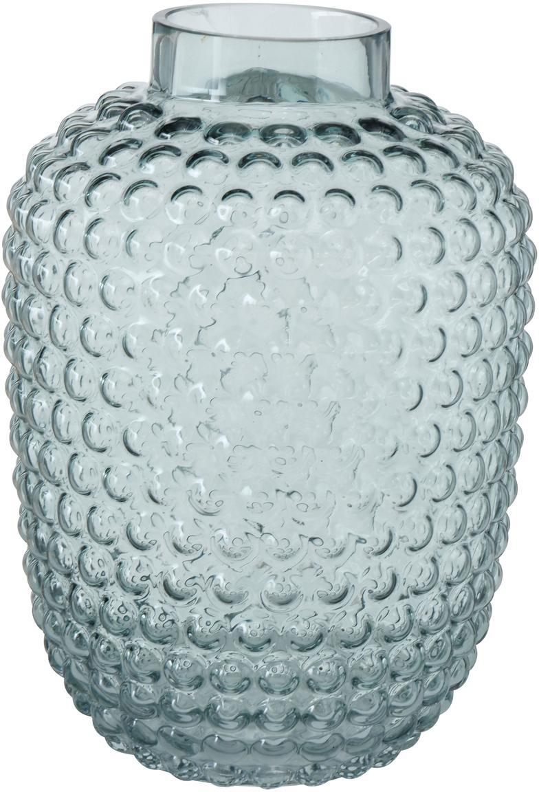 Jarrón de vidrio Aubry, Vidrio, Verde, Ø 18 x Al 25 cm