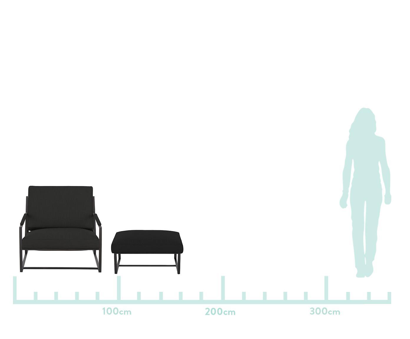 Chaise lounge Andy, 2 élém., Tissu anthracite