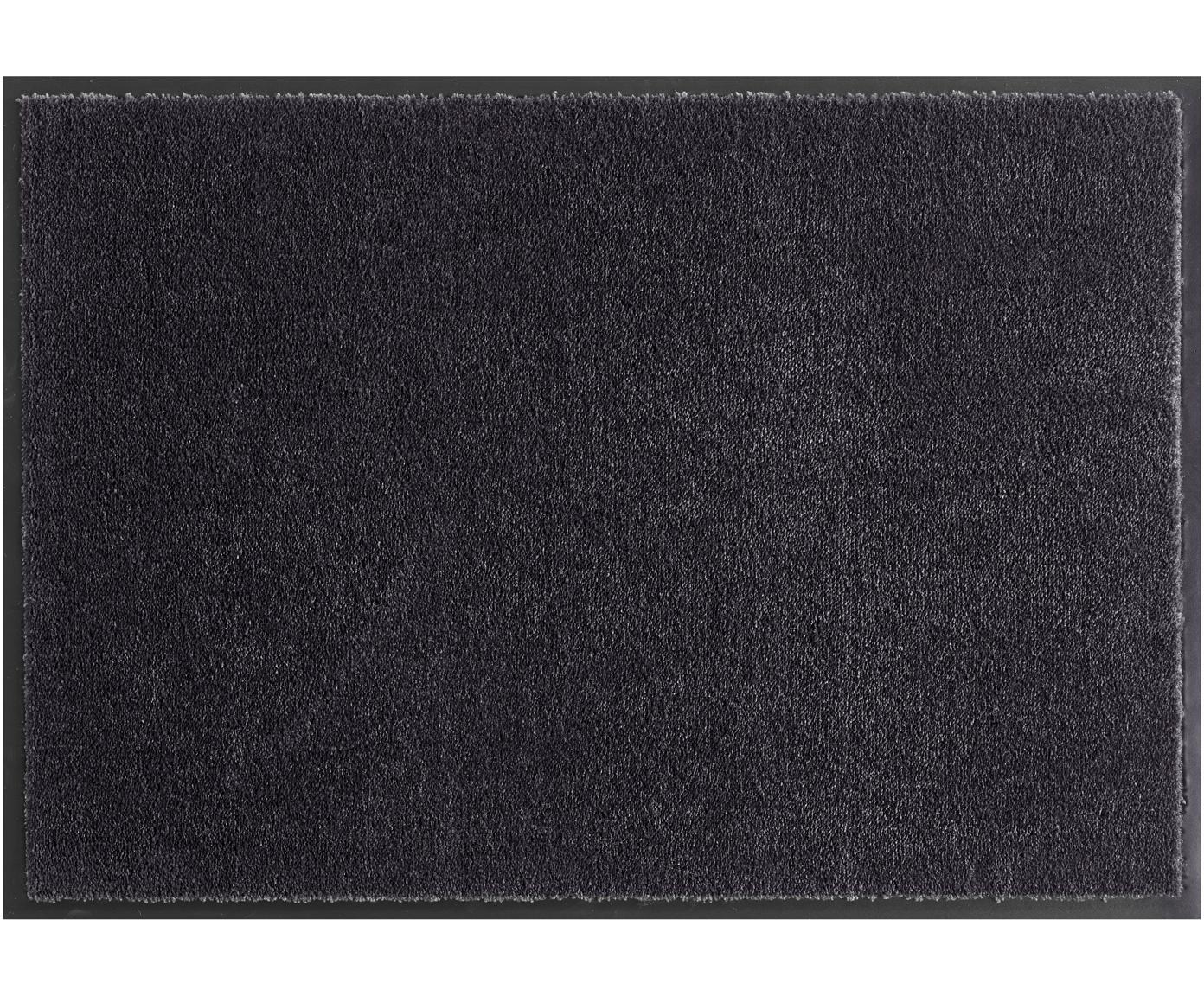 Polyamide deurmat Milo, Bovenzijde: polyamide, Onderzijde: rubber, Zwart, 39 x 58 cm