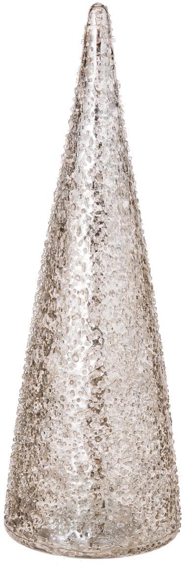 LED-Leuchtobjekt Velma, Glas, Silberfarben, Ø 8 x H 26 cm