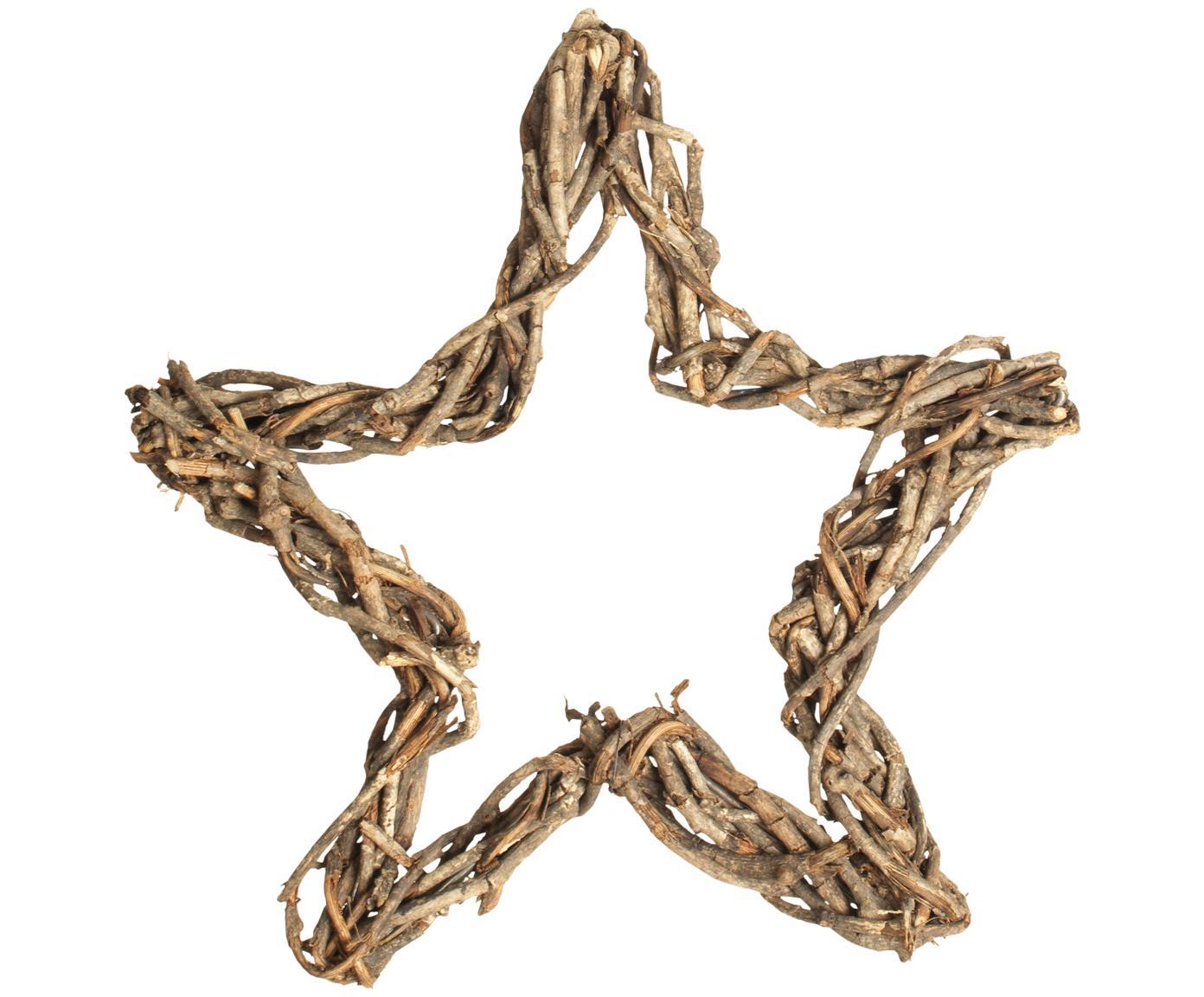 Pieza decorativa Star, Ratán, Marrón, An 40 x Al 40 cm