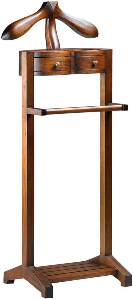 Galán artesanal Flamingo, Madera de caoba Accesorios de bronce, Marrón, An 47 x Al 122 cm