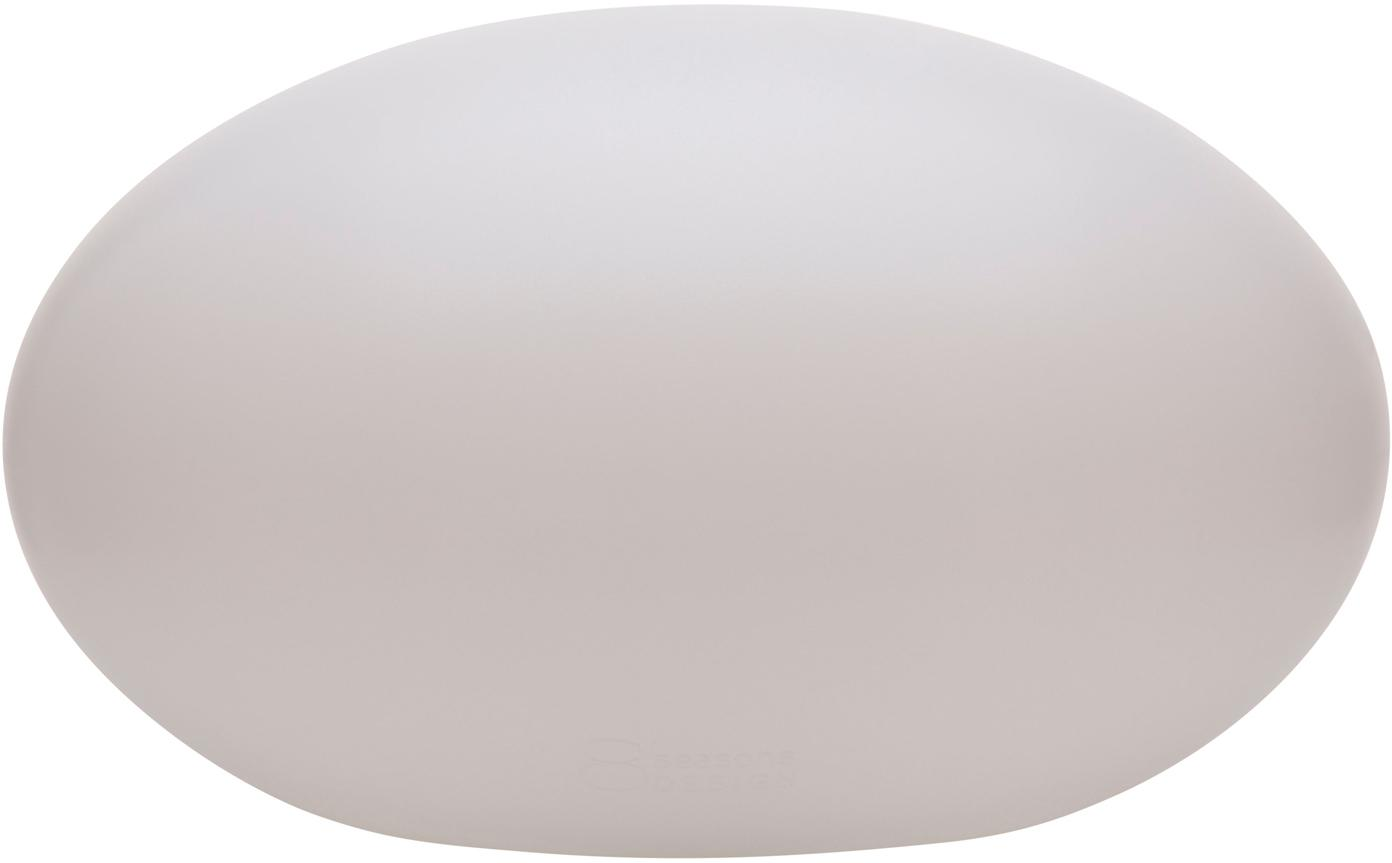 Aussenleuchte Shining Eye, Kunststoff (Polyethylen), Weiss, 42 x 24 cm