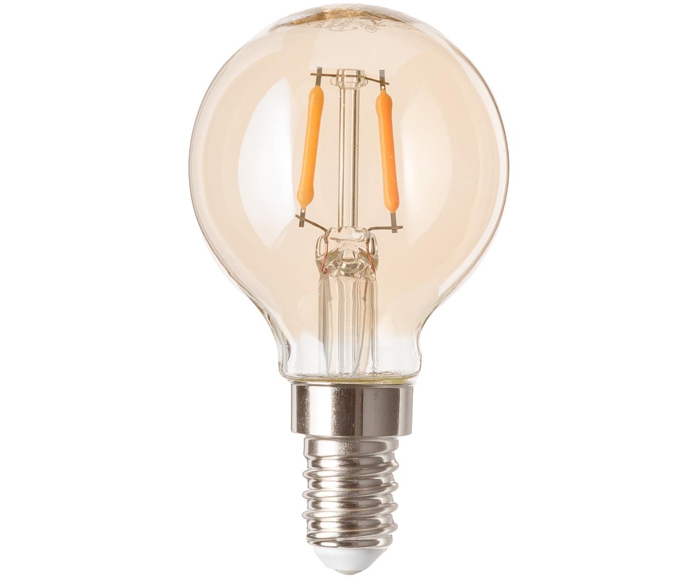 Bombillas Luel (E14/1,2W),5uds., Ampolla: vidrio, Casquillo: aluminio, Ámbar, Ø 5 x Al 8 cm