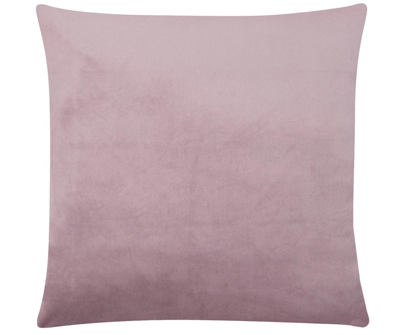 Poszewka na poduszkę z aksamitu Palmsprings, 100% aksamit poliestrowy, Mauve, odcienie złotego, S 40 x D 40 cm