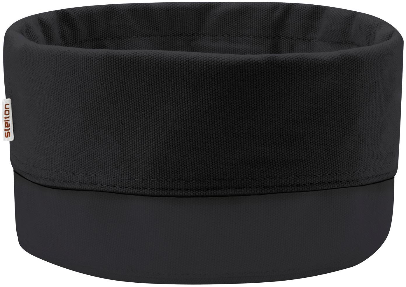 Design broodmand Helga in zwart, Katoen, Zwart, Ø 23 cm