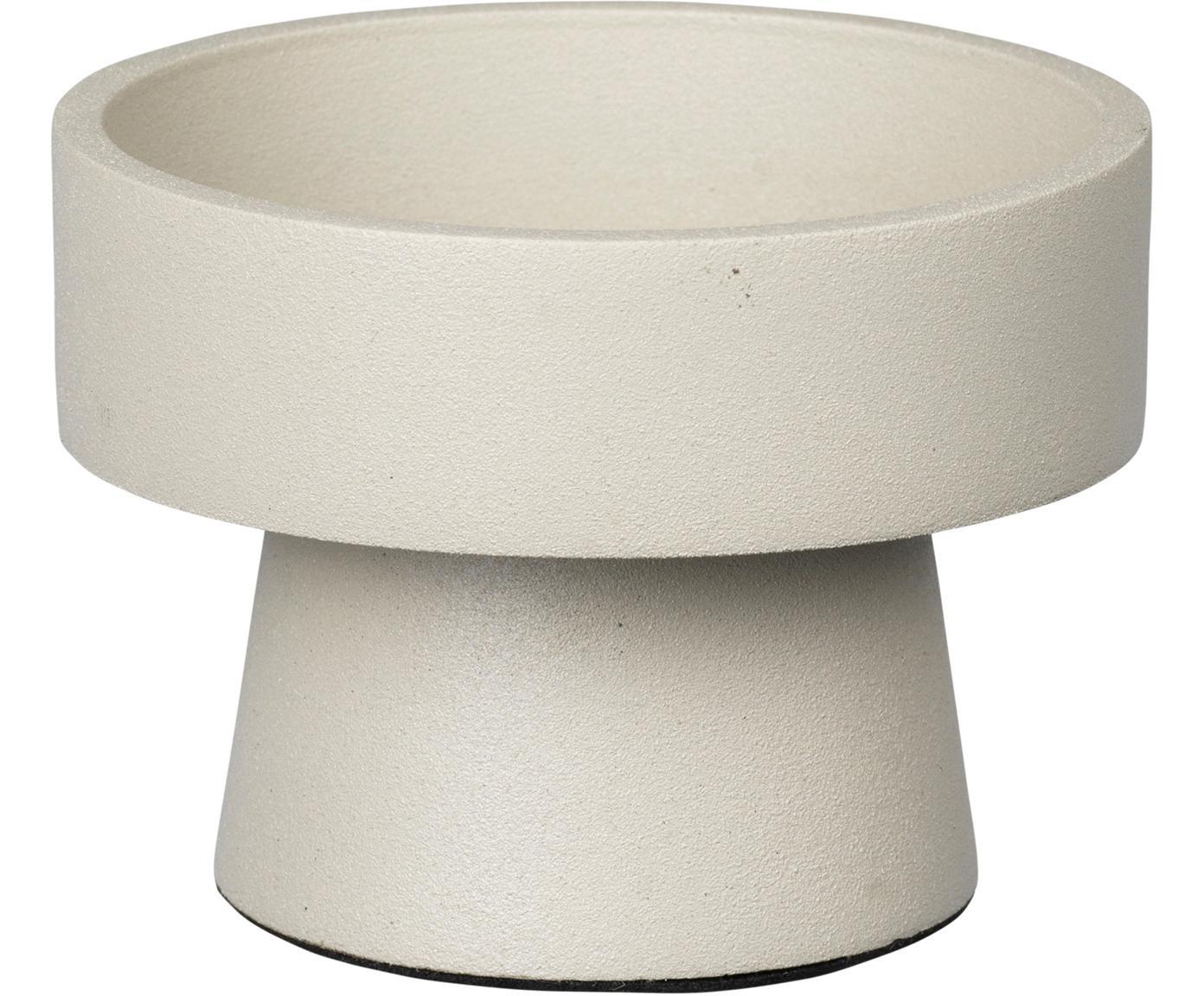 Kerzenhalter Anker, Aluminium, beschichtet, Beige, Ø 8 x H 6 cm