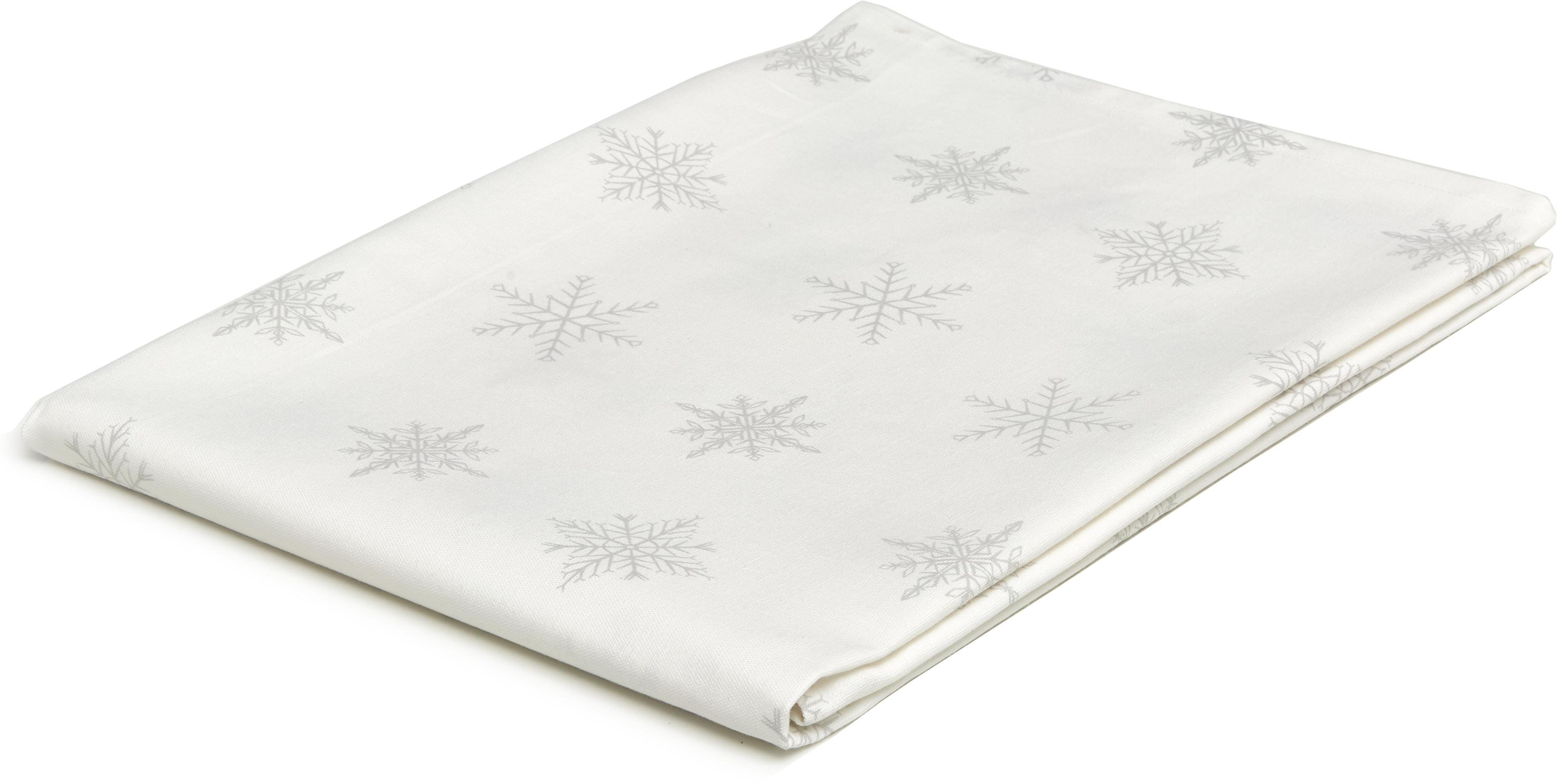 Obrus Snow, 100% bawełna pochodząca ze zrównoważonych upraw, Biały, kremowy, S 145 x D 200 cm