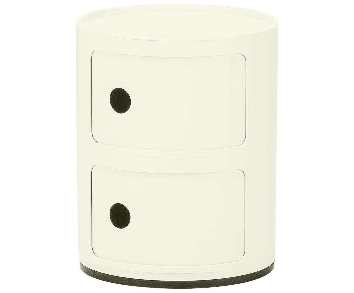 Pequeña mesa auxiliar de diseño Componibile, Plástico, Blanco, Ø 32 x Al 40 cm