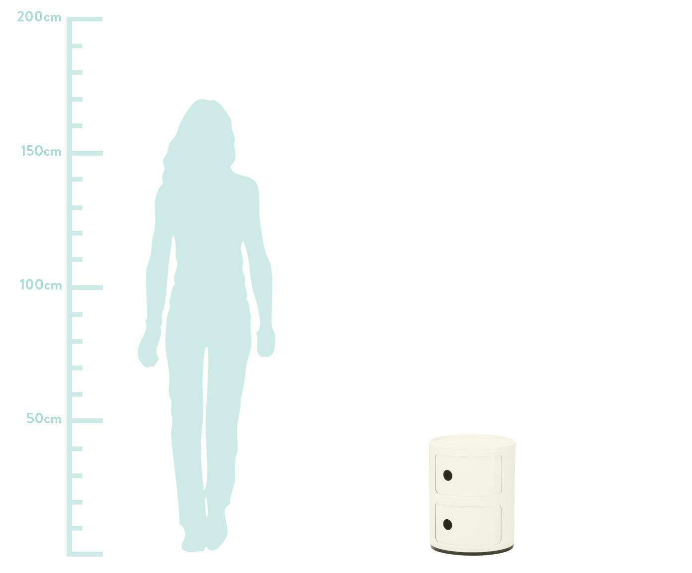 Kleiner Design Container Componibile, Kunststoff, Weiß, Ø 32 x H 40 cm