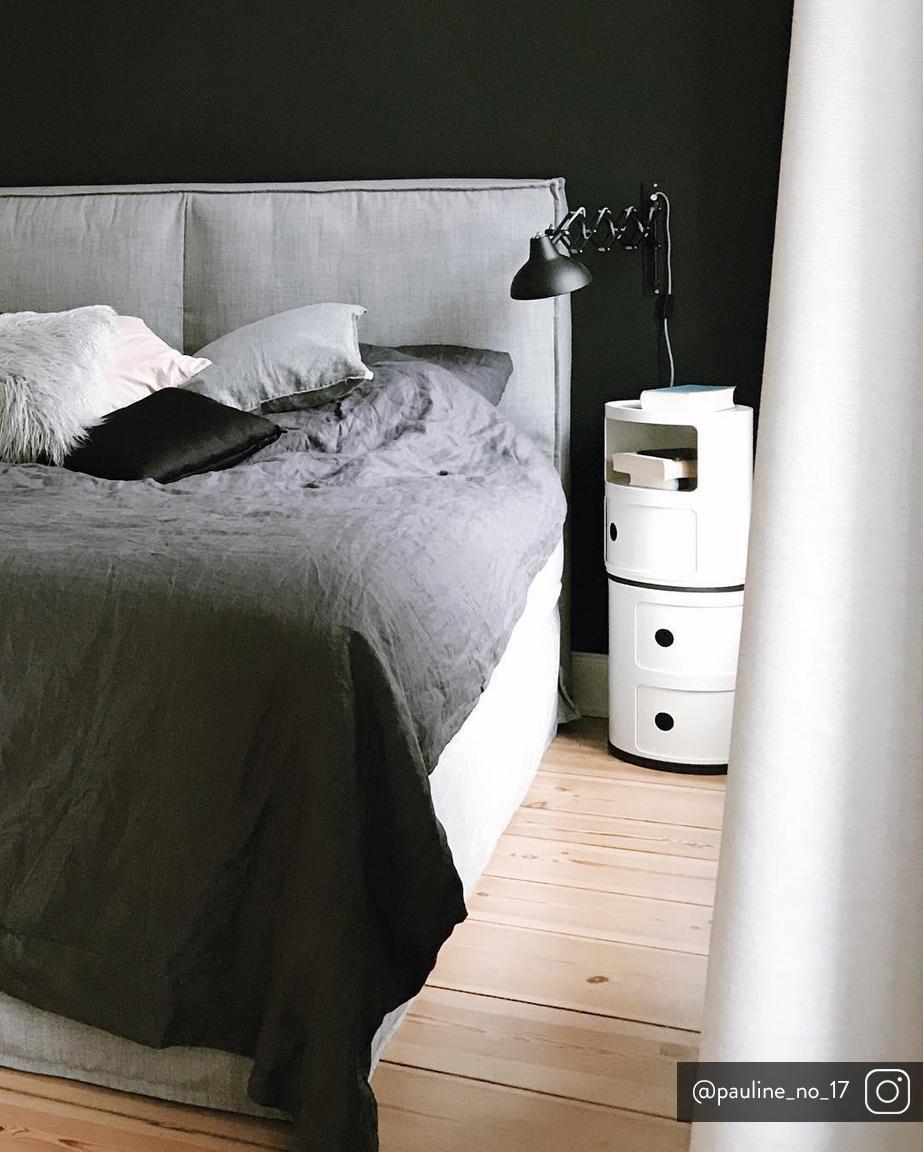 Comodino di design con cassetti Componibile, ABS metallizzato, bianco opaco, Ø 32 x Alt. 40 cm