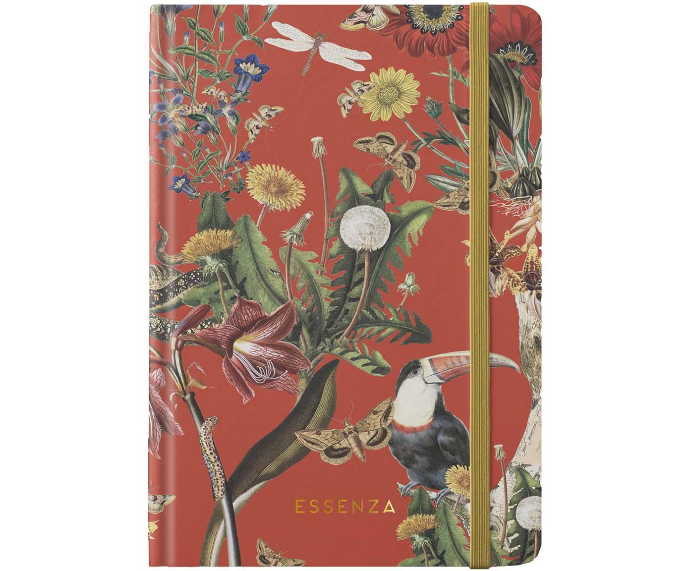 Notatnik Airen, Papier, Czerwony chili, wielobarwny, S 15 x W 22 cm