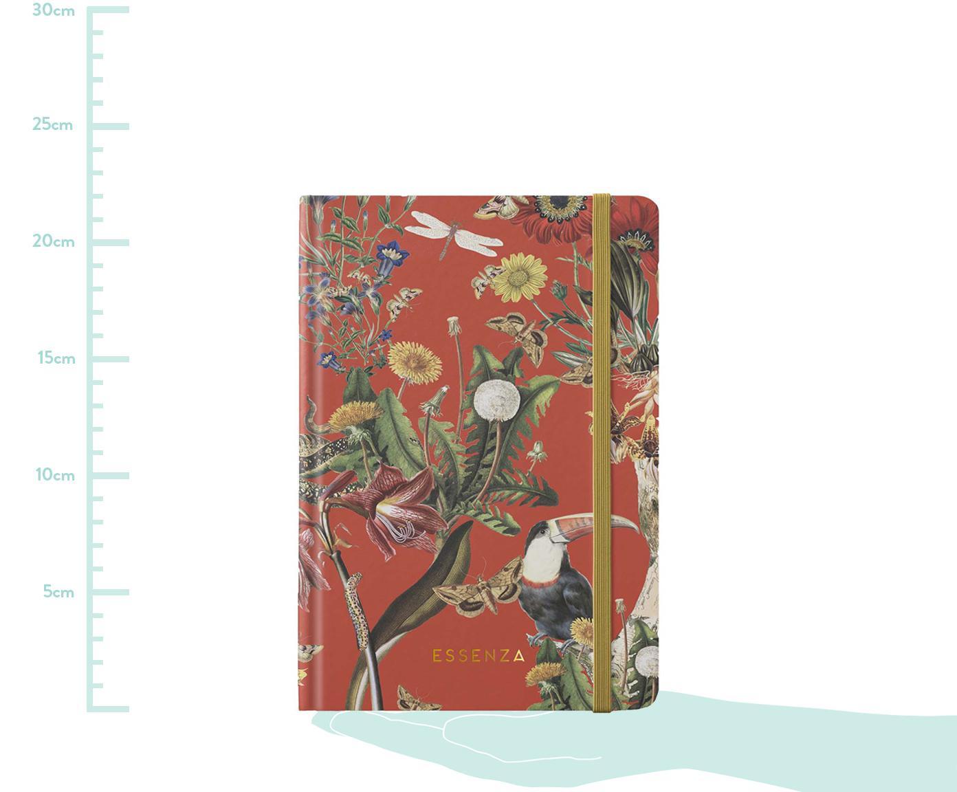 Notizbuch Airen, Papier, Chilirot, Mehrfarbig, 15 x 22 cm