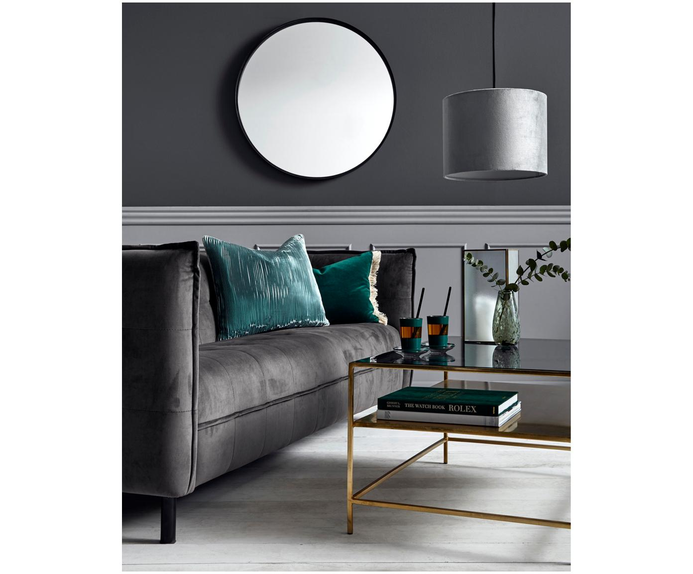 Stolik kawowy Zoe, Blat: szkło tonowane, Czarny, S 90 x W 45 cm
