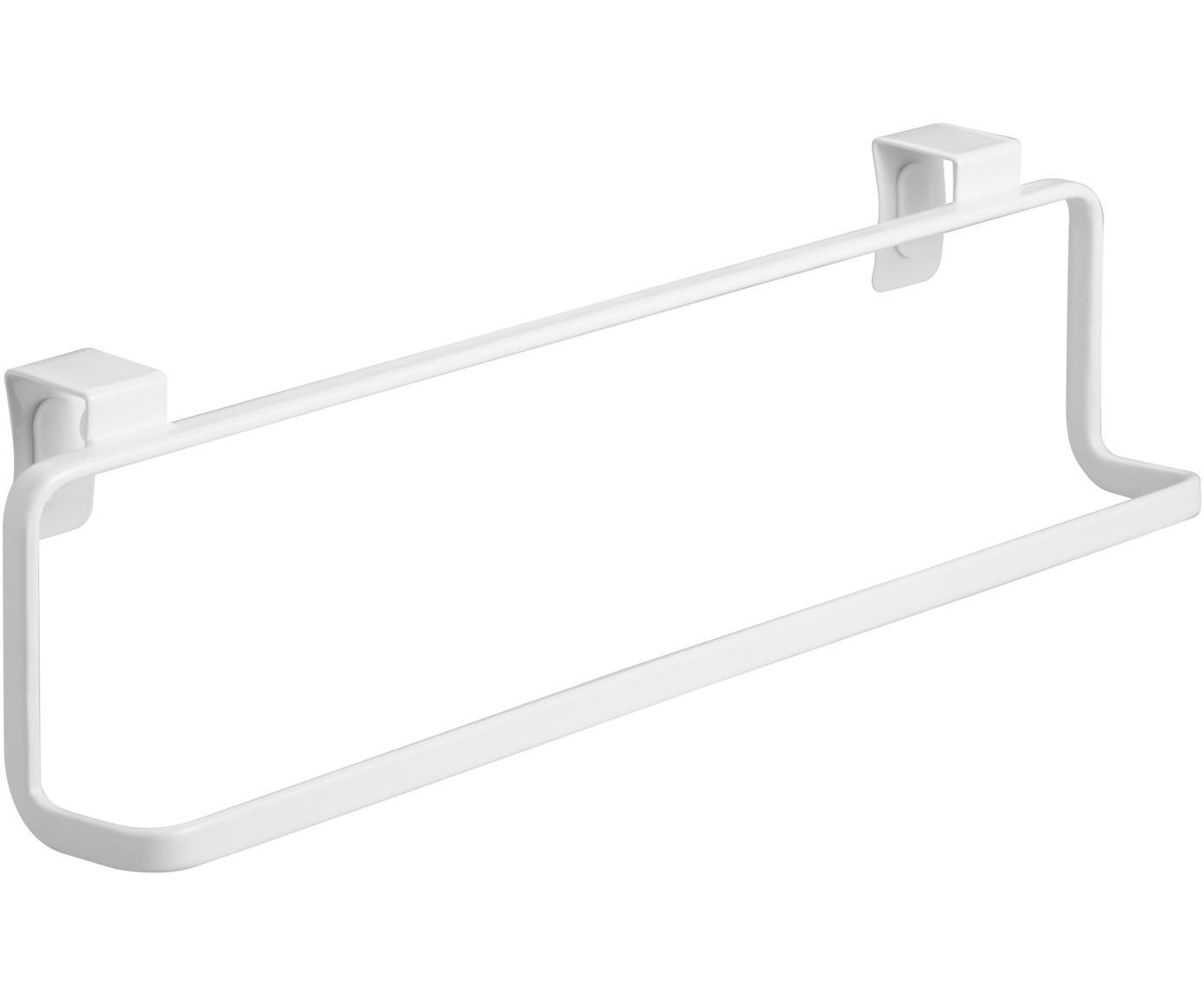 Toallero Torre, Acero, recubierto, Blanco, An 30 x Al 8 cm